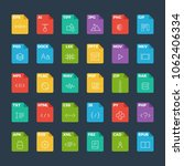vector flat icon set of file... | Shutterstock .eps vector #1062406334