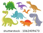 cute cartoon dinosaurs clip art.... | Shutterstock . vector #1062409673
