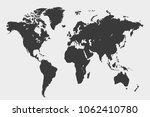 world map vector | Shutterstock .eps vector #1062410780