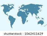 dotted world map vector | Shutterstock .eps vector #1062411629
