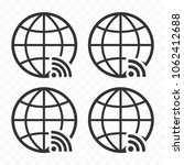globe symbol web icon set with... | Shutterstock .eps vector #1062412688