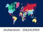 world map vector. | Shutterstock .eps vector #1062413969