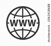 globe symbol web icon set with... | Shutterstock .eps vector #1062418688