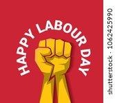 happy labour day vector label...   Shutterstock .eps vector #1062425990