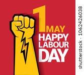 happy labour day vector label...   Shutterstock .eps vector #1062426038
