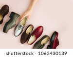 stylish female spring or autumn ... | Shutterstock . vector #1062430139