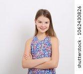 happy emotional teen girl... | Shutterstock . vector #1062430826