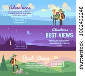 climbing  trekking and hiking... | Shutterstock . vector #1062432248