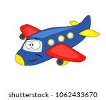 cute cartoon airplane. vector... | Shutterstock .eps vector #1062433670