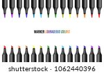 set of bright markers on a... | Shutterstock .eps vector #1062440396