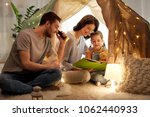 family  hygge and people... | Shutterstock . vector #1062440933