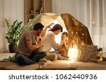 hygge and people concept  ... | Shutterstock . vector #1062440936