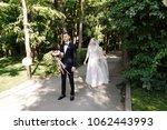 happy smile bridegroom is... | Shutterstock . vector #1062443993