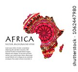 isolated image of african... | Shutterstock .eps vector #1062447980
