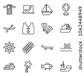 flat vector icon set  ... | Shutterstock .eps vector #1062448949