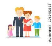 big happy family with happy... | Shutterstock .eps vector #1062452933