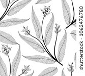 seamless pattern with leaves.... | Shutterstock .eps vector #1062476780