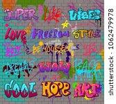graffiti vector graffito of... | Shutterstock .eps vector #1062479978