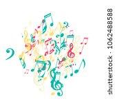 musical symbols. modern...   Shutterstock .eps vector #1062488588