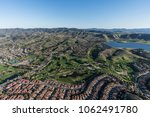 aerial view of wood ranch... | Shutterstock . vector #1062491780