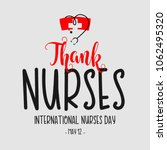 thank nurses international... | Shutterstock .eps vector #1062495320