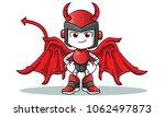 robot humanoid devil mascot... | Shutterstock .eps vector #1062497873