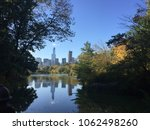 view of pond and midtown from... | Shutterstock . vector #1062498260