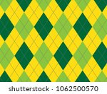 yellow and green argyle... | Shutterstock .eps vector #1062500570