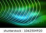 outline hexagons  glowing... | Shutterstock .eps vector #1062504920