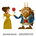 beast and beauty monster | Shutterstock .eps vector #1062505154