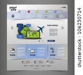 website template | Shutterstock .eps vector #106250714