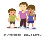 illustration of multiracial... | Shutterstock .eps vector #1062512960