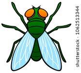 fly top view   a vector cartoon ... | Shutterstock .eps vector #1062513344