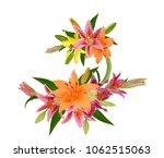 beautiful lily flower bouquet...   Shutterstock . vector #1062515063