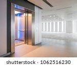 modern elevator open doors in a ... | Shutterstock . vector #1062516230