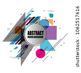 new stylish modern abstract... | Shutterstock .eps vector #1062517616
