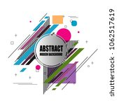 new stylish modern abstract... | Shutterstock .eps vector #1062517619