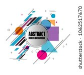 new stylish modern abstract... | Shutterstock .eps vector #1062517670