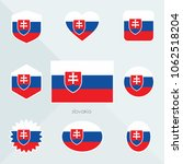 slovakia flag. national flag of ... | Shutterstock .eps vector #1062518204