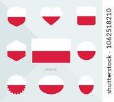 poland flag. national flag of...   Shutterstock .eps vector #1062518210