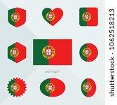 portugal flag. national flag of ... | Shutterstock .eps vector #1062518213