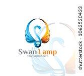 swan lamp   logo template | Shutterstock .eps vector #1062520433