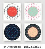 set of backgrounds with trendy...   Shutterstock .eps vector #1062523613