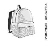 backpack mockup  sketch for...   Shutterstock .eps vector #1062526916