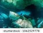 diving at the cenote jardin del ... | Shutterstock . vector #1062529778