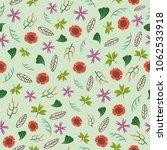 beautiful seamless floral...   Shutterstock .eps vector #1062533918