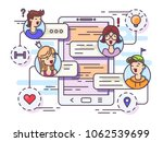 general chat group in messenger.... | Shutterstock .eps vector #1062539699