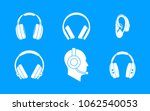headphones icon set. simple set ... | Shutterstock .eps vector #1062540053