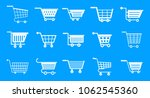 shop cart icon set. simple set... | Shutterstock .eps vector #1062545360