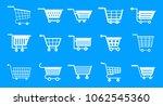 shop cart icon set. simple set... | Shutterstock .eps vector #1062545360
